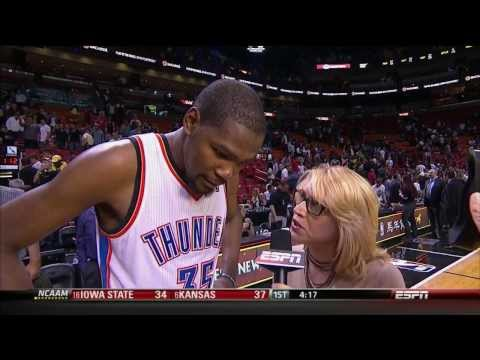 ESPN reporter criticized for reaction to Durant's response to interview question