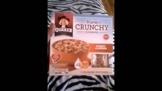 Quaker Warm & Crunchy Granola (honey Almond)review