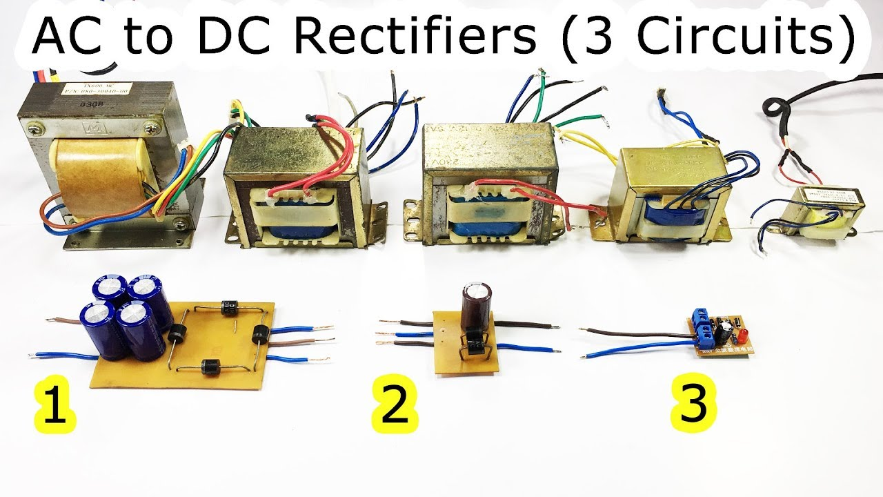 Ac To Dc Using Bridge Diode And Capacitor   Half Wave  Full