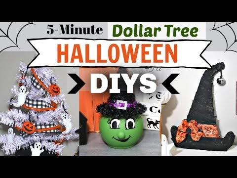 Dollar Tree Halloween DIYS in 5 MINUTES! | DIY Halloween Decor Dollar Tree | Krafts by Katelyn