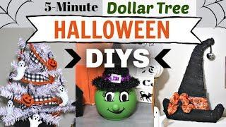 Dollar Tree Halloween DIYS in 5 MINUTES!   DIY Halloween Decor Dollar Tree   Krafts by Katelyn
