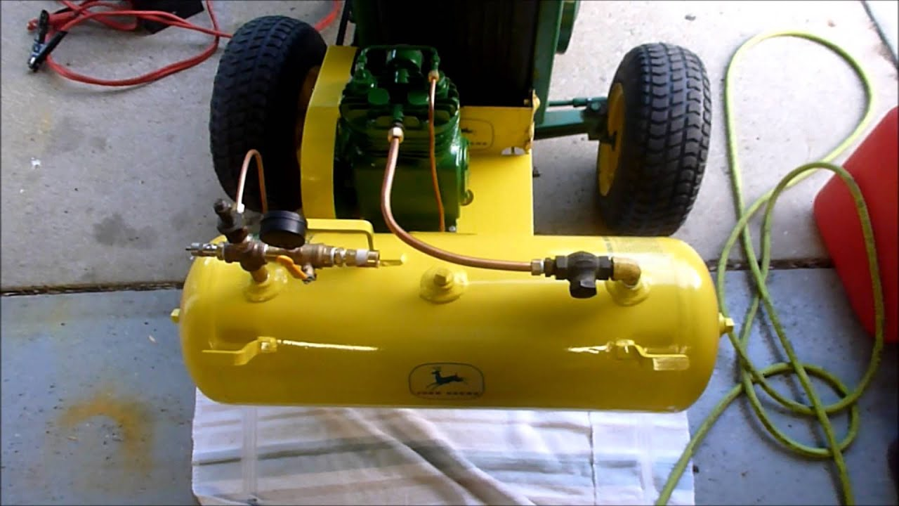 John Deere Air Compressor >> John Deere Model 20 Air Compressor Youtube