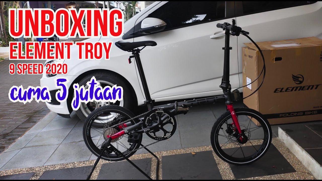 Unboxing Element Troy X 9 Speed 2020 Warna Grey Red Pilihan Alternatif Murah Terbaik Dari Fnhon Gust Youtube