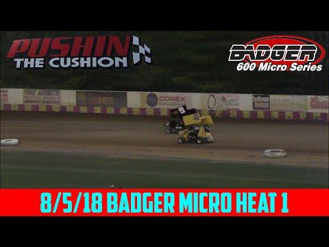 Angell Park Speedway - 8/5/18 - Badger Micro - Heat 1