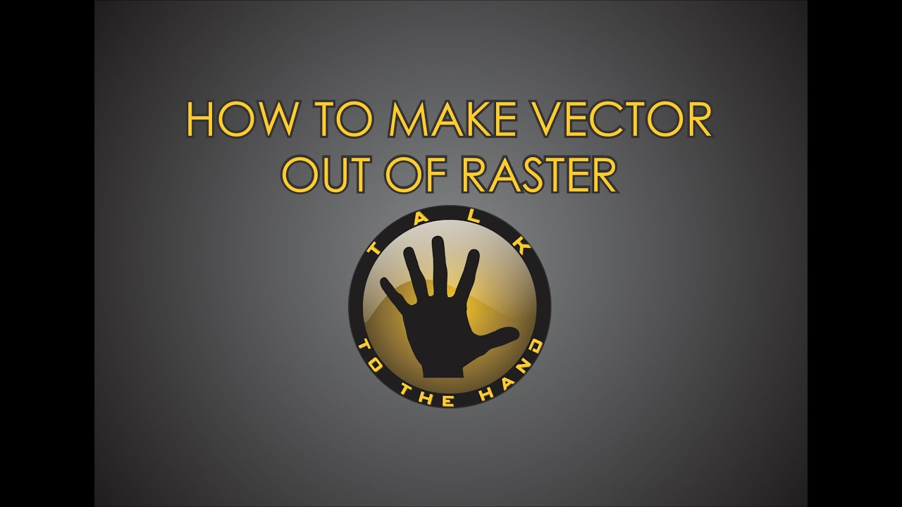 Quick tracing - how to make vector from raster image tutorial- Corel Draw X6 - YouTube