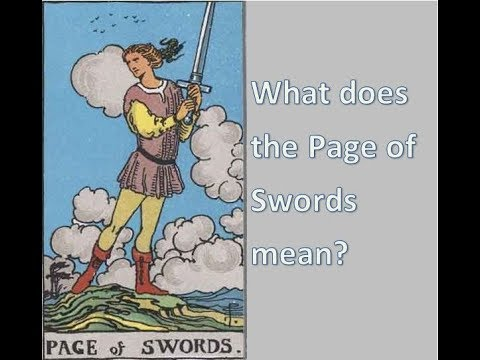 Tarot meanings - what does the Page of Swords mean?