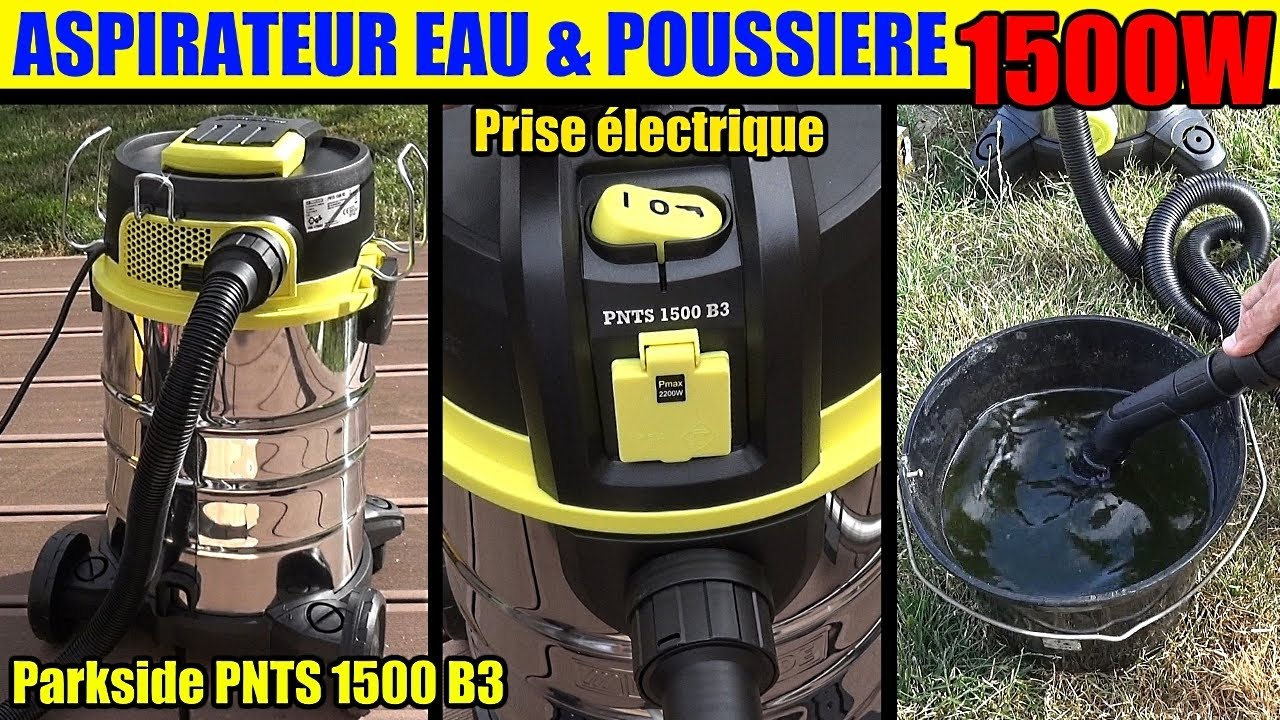 aspirateur eau et poussiere lidl parkside pnts 1500 wet and dry vacuum cleaner youtube