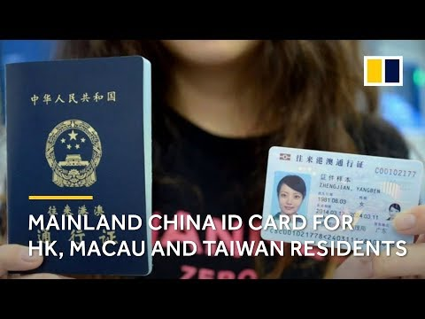 China ID card for Hong Kong, Macau and Taiwan residents for accessing to public services