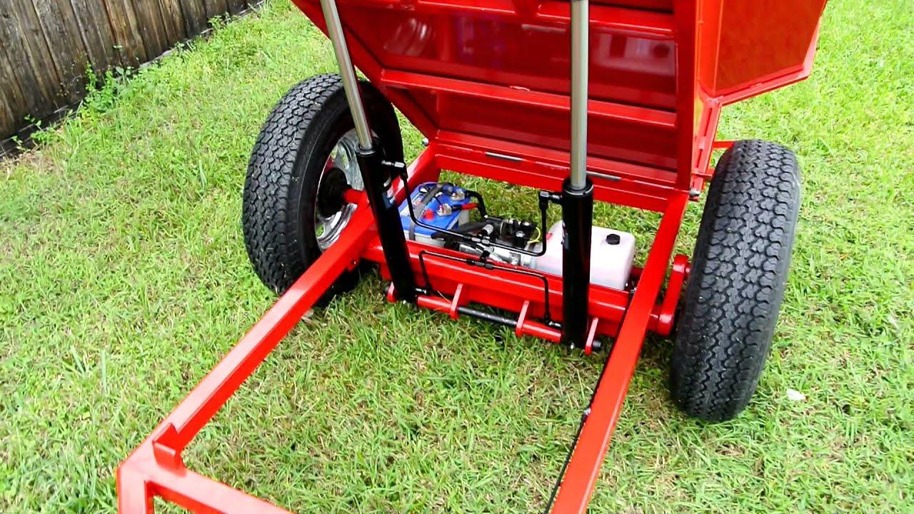 custom garden red dump trailer - Garden Tractor Trailer