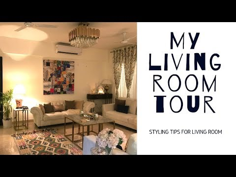 MY LIVING ROOM TOUR (IN HINDI) | #livingroomtour #shimmerandmusebysapna