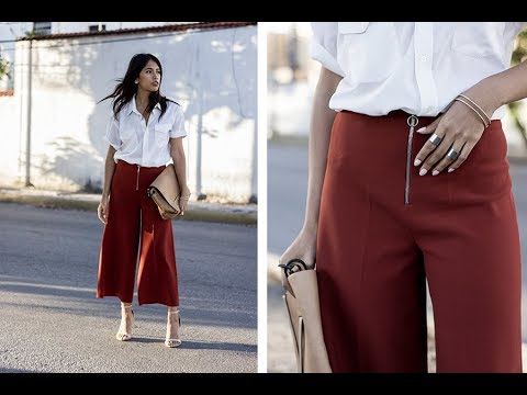 2aca80ef7cb0 How To Wear Culottes To Work. My Fashion
