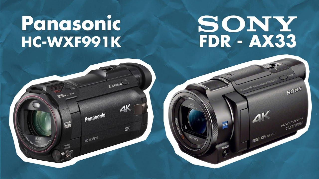 Sony Fdr Ax33 Vs Panasonic Hc Wxf991k Quick Specs Comparison Youtube Wxf995 4k Ultra Hd Camcorder