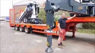 Pesci Crane trailer fassi Hiab PM truck mounted crane