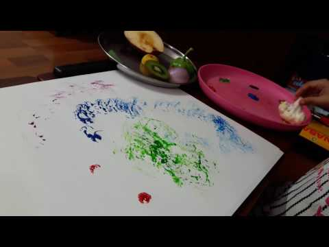 Fine motor and Sensory Development  Activity throught Fruit and Veggie Stamping