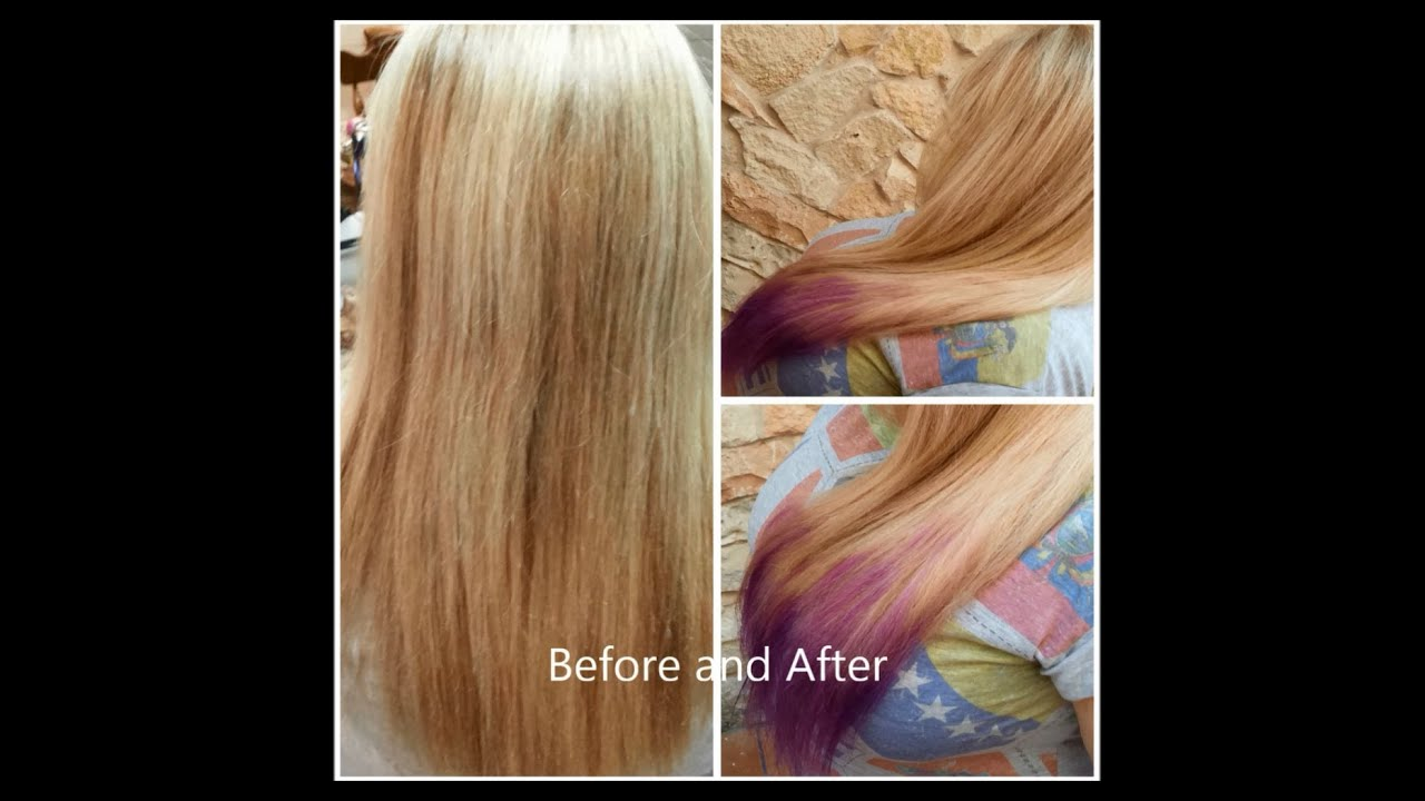 Diy ombre hair tutorial for blonde hair lilac purple youtube solutioingenieria Gallery