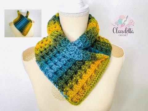 Crochet EASY COWL / Waffle stitch / Beginner