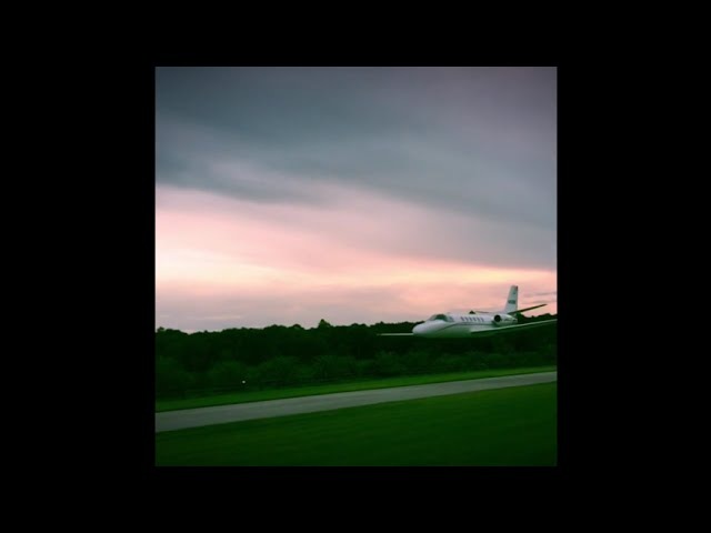At a Private Runway in Florida a Jet performs a High Speed Low Pass - Slow Motion