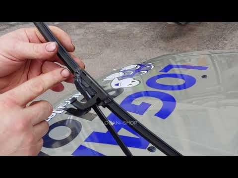 Как поменять щетки стеклоочистителя