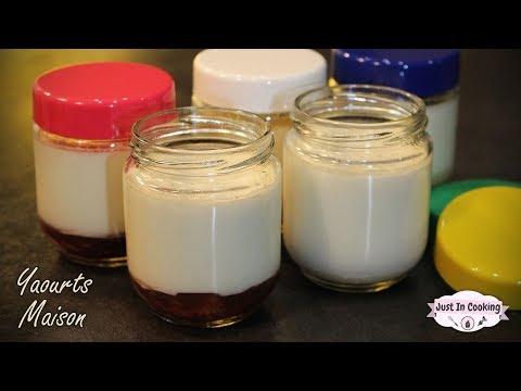 recette-des-yaourts-maison-à-la-vanille-et-confiture-de-fraises