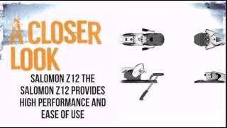 Video Salomon Z12 Ski Binding- White/ Black - TheSkiBum.com download MP3, 3GP, MP4, WEBM, AVI, FLV November 2018
