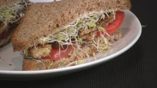 Bst Bacon, Sprout And Tomato Sandwich