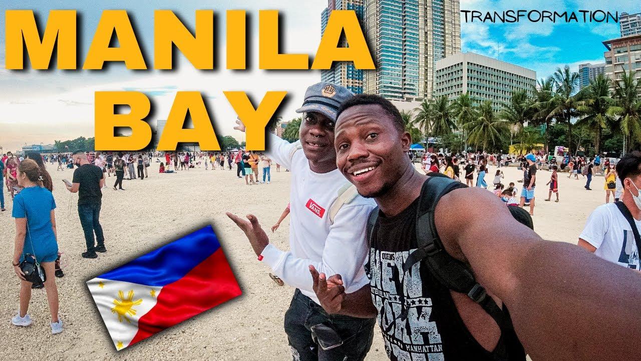 Download MANILA BAY UPDATE || DOLOMITE BEACH || PHILIPPINES || AFRICANS REACT TO WHITE SAND BEACH IN MANILA