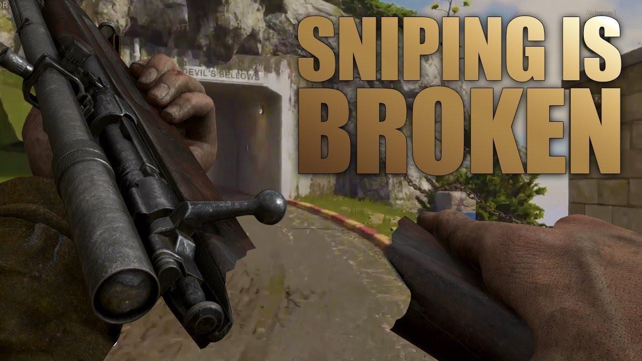 "SNIPING IS BROKEN!! In ""Call Of Duty WW2"""