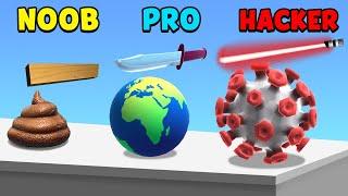 NOOB vs PRO vs HACKER - ASMR Slicing