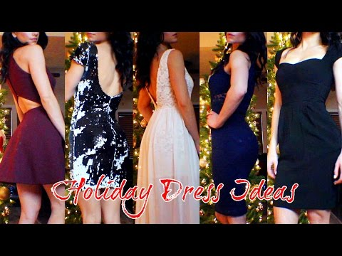 Holiday Dress Ideas! For Christmas & New Years 2014 + Try Ons!