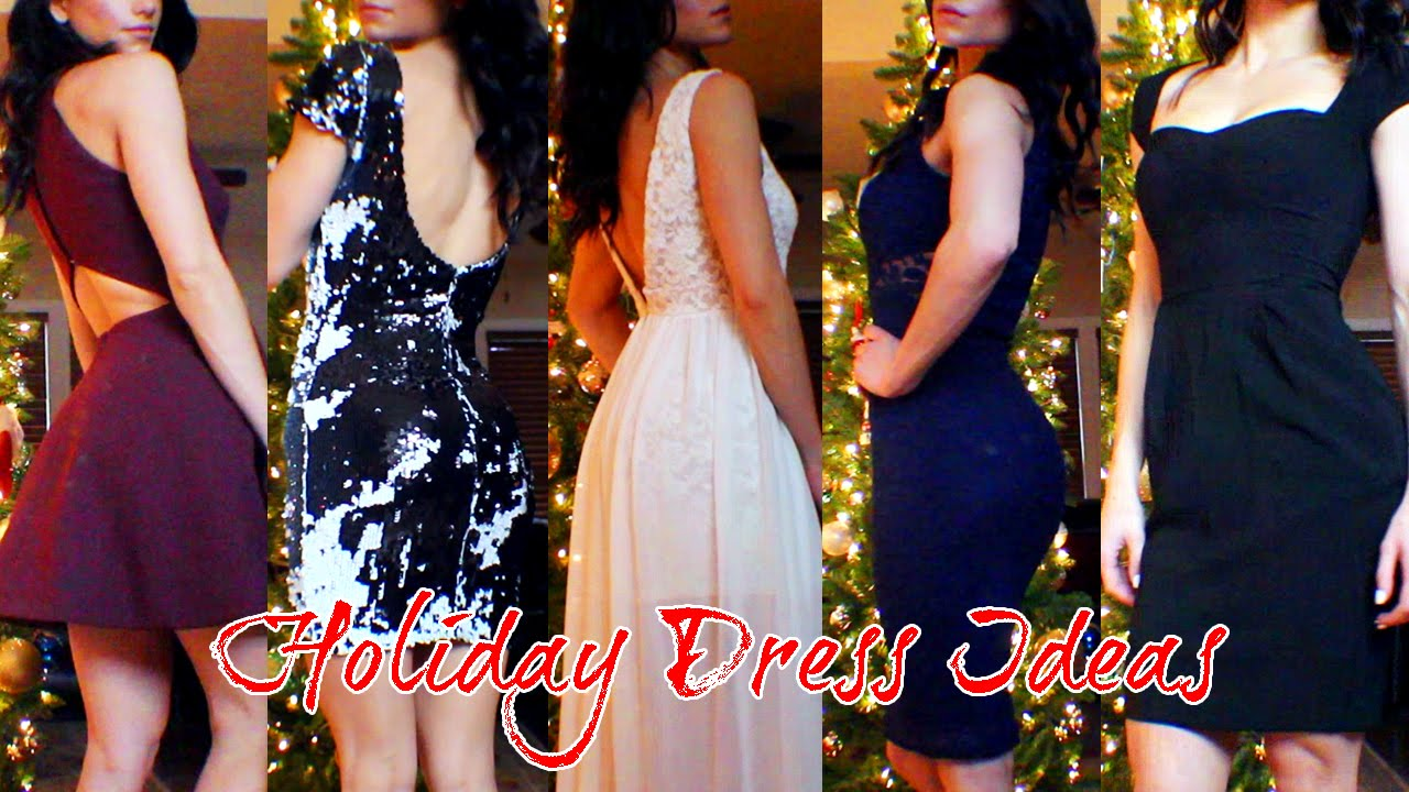 Dress ideas for christmas amp new years 2014 try ons youtube