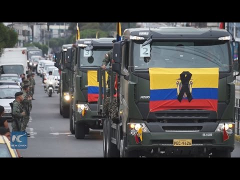 Remains of soldiers who died in plane crash arrive in Quito