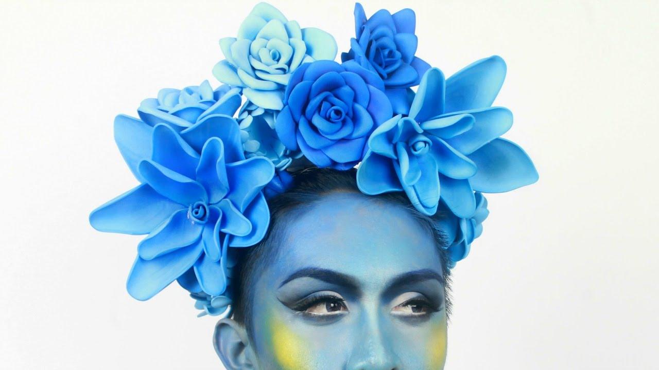 DIY Flower Crown Headpiece Using Foam Sheets - YouTube
