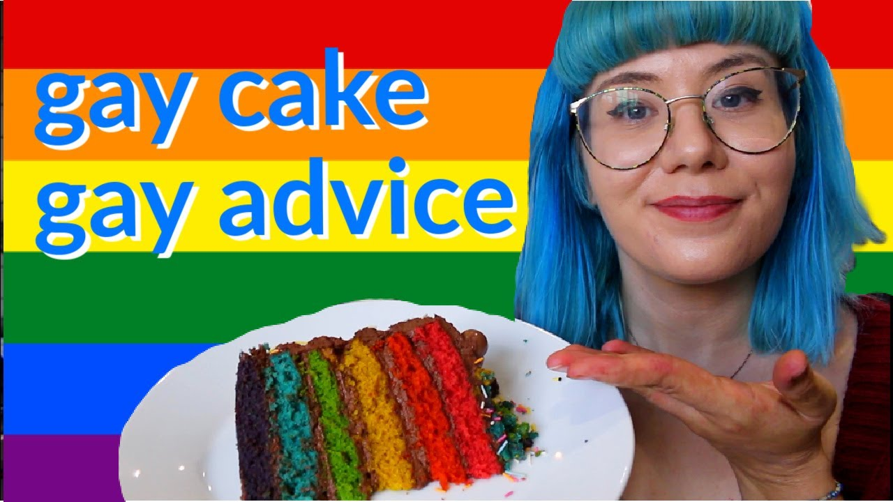 baking rainbow cake and answering gay questions