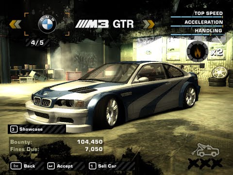 nfs most wanted extra options mod bmw m3 gtr with junkman parts