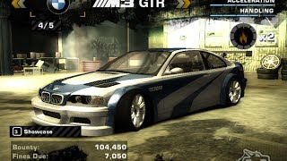 NFS Most Wanted (Extra Options Mod) - BMW M3 GTR with Junkman Parts + Ultimate Nitrous Build