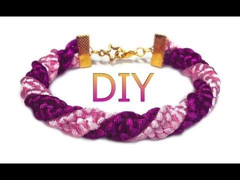 DIY: Spiral macrame friendship bracelet / Спиральный макраме браслет (жгут)