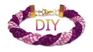 DIY: Spiral macrame bracelet / Спиральный макраме браслет (жгут)(Спасибо за подписку!!! =* ❤ ❤ ❤ Смотреть другое видео этого автора: http://anchik.net/category/lessons/ Basic macrame knots..., 2014-05-18T16:42:35.000Z)