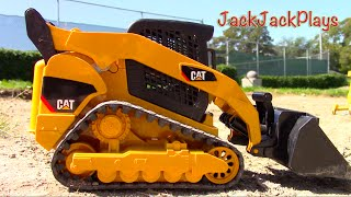 Construction for Kids - Toy Vehicles DIGGING | Bruder Compact Track Loader UNBOXING PLAYTIME