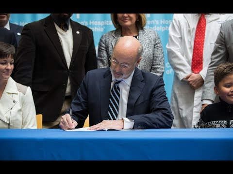 Governor Wolf Signs Bill to Protect Children's Health Care, Urges Federal Action