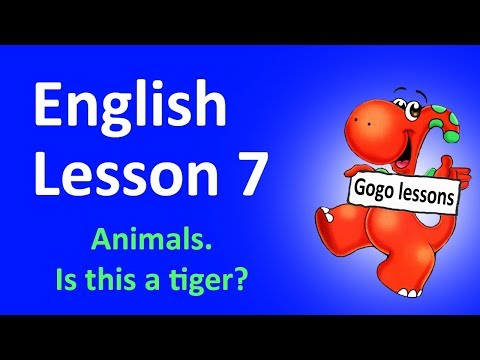 Lesson 7 - Animals. Is this a tiger?