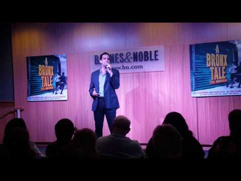 """One of the Great Ones"" - Nick Cordero - A Bronx Tale at Barnes & Noble"