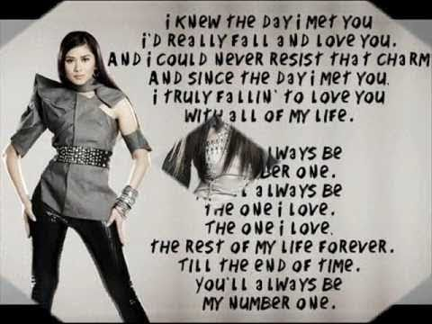 Sarah Geronimo   You'll always be my number one LYRICS