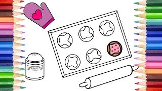 How to Draw a Cookie Baking Set | Print this and color yourself, link in description!