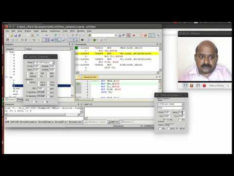 Serial Session in 8051--Demo using Keil