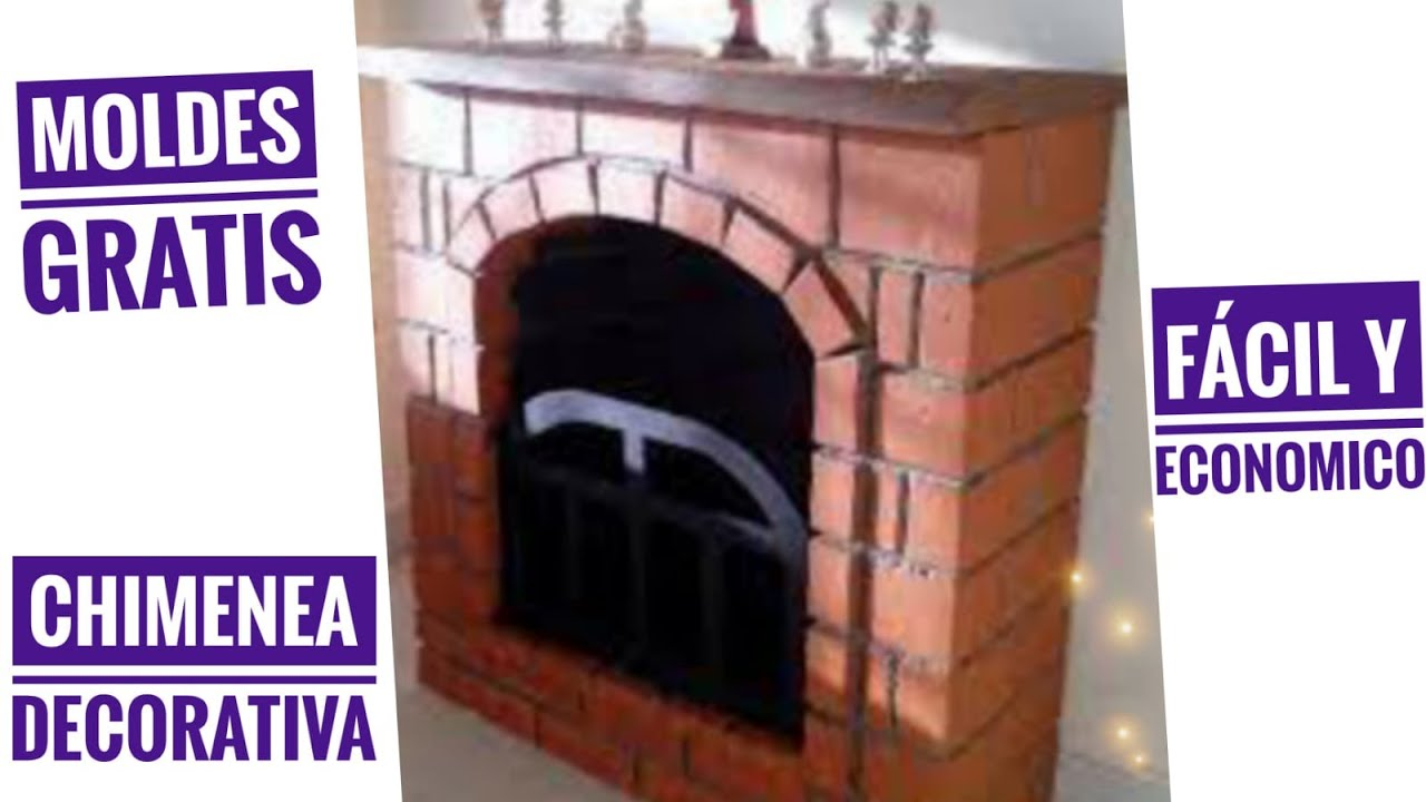 Como elaborar una chimenea decorativa en icopor youtube for Como hacer chimeneas decorativas