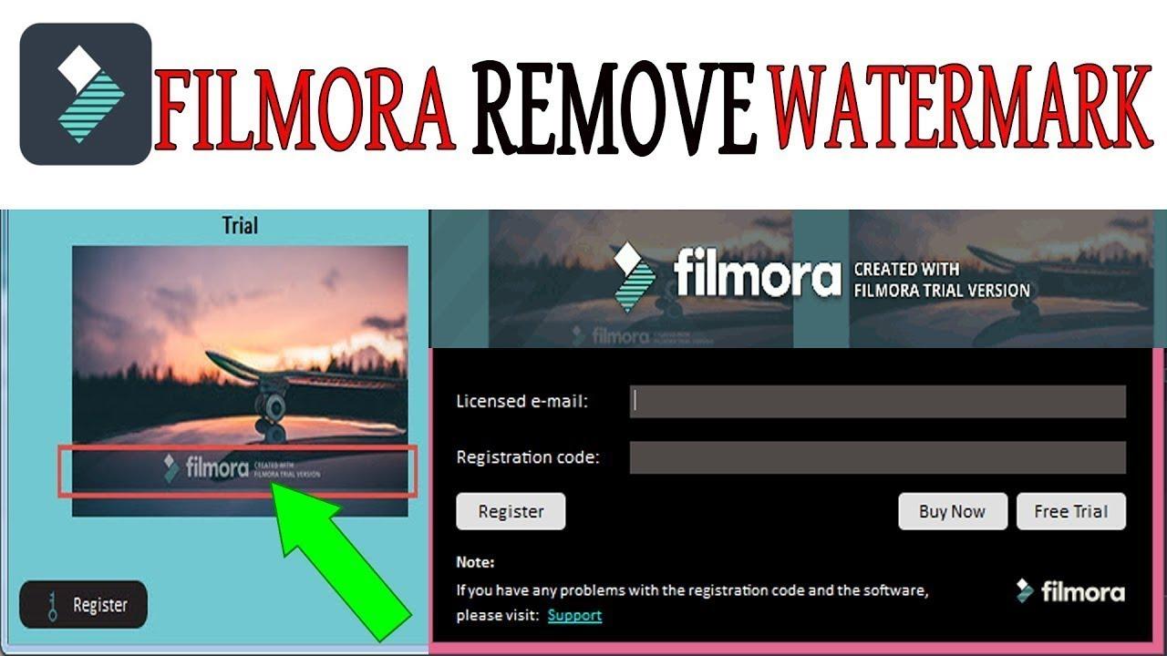 how to remove watermark in wondershare filmora free way
