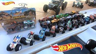 Paredão Hot Wheels Monster Trucks com Novo Carrinho Trenzinho de Corrida