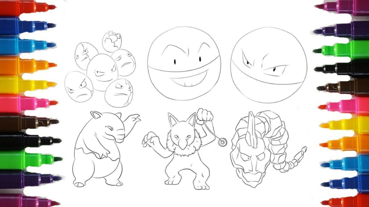 Pokemon Coloring Pages | Six random Pokemon | Guess which Pokemon ...