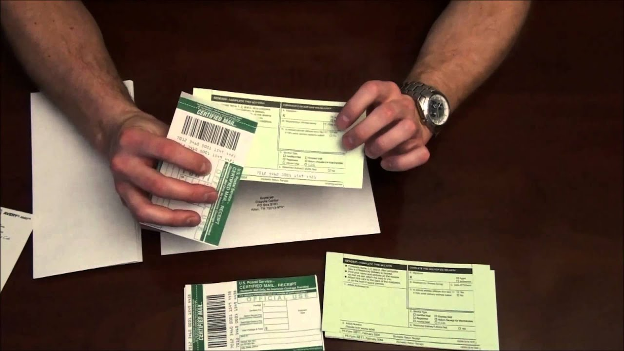how to prepare certified mail. - youtube