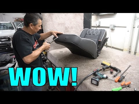HOW THE PROS MAKE CUSTOM CAR SEATS